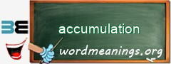 WordMeaning blackboard for accumulation